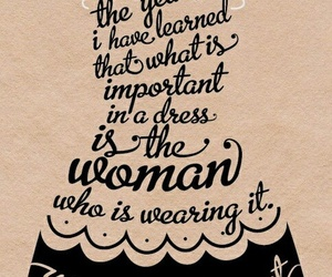dress, quotes, and woman image
