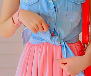accesories, girl, and pink image