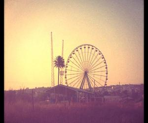 cyprus, ferris wheel, and palm tree image