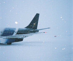 snow, winter, and airplane image