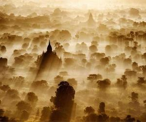 myanmar, sunrise, and ancient city image