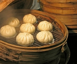 asian, buns, and chinese food image