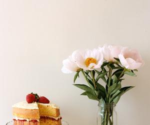 cake, mascarpone, and jam image