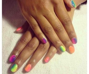 colorful, nails, and female image
