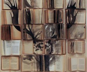 art, bike, and books image
