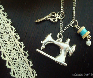 crochet, lace, and necklace image