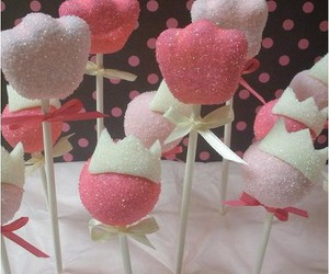 cake pops, cute, and pink image