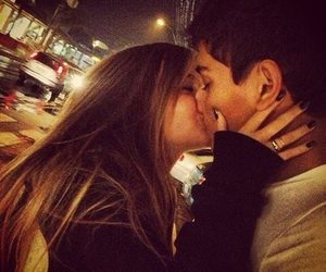 :), couple, and kissing image