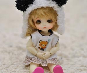boneca, panda, and touca image