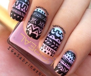 nails, aztec, and beautiful image