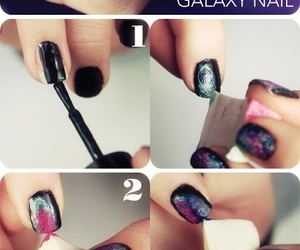 nails, galaxy, and tutorial image