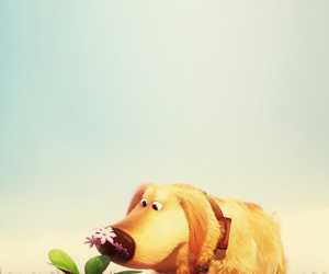 up, flowers, and disney image