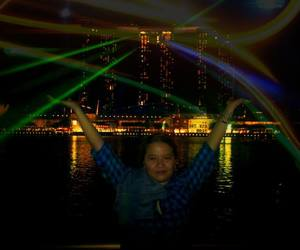 awesome, lights, and marina bay sands image
