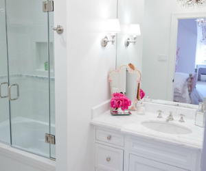 bathroom, girly, and pink image