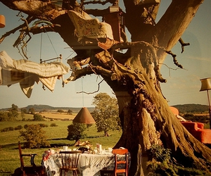 bed, tim walker, and tree image