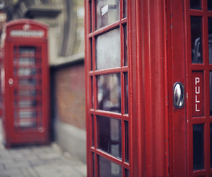red, london, and telephone image