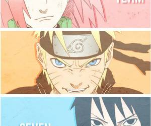 team 7, naruto, and sakura image