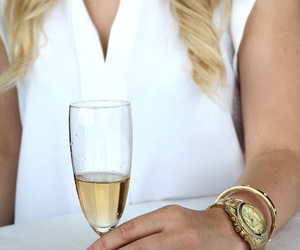 champagne, girl, and drink image