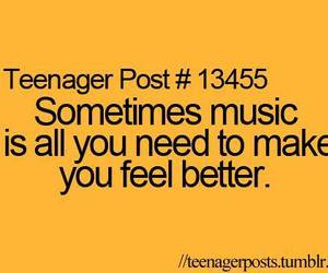 music, teenager post, and quote image
