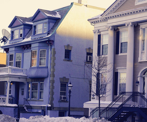 building, Houses, and new york image