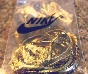 dope, nikes, and gold image