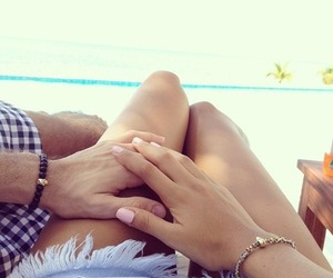 beach, bracelet, and couple image