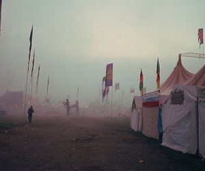 circus, flags, and mysterious image