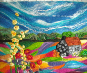 landscape, handmade, and wales image