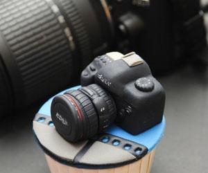 camera, cupcake, and food image
