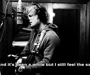 ed sheeran, give me love, and quote image