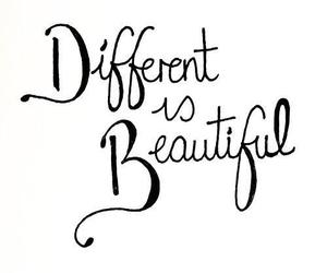beautiful, different, and quotes image