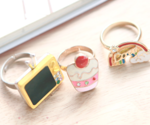 rings, cute, and colorful image