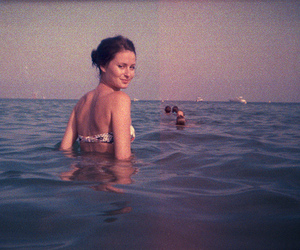girl, old, and water image
