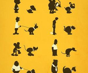 dog, funny, and illustration image