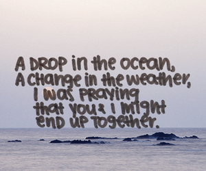 quote, love, and ocean image