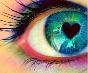 heart, eye, and eyes image
