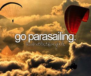 parasailing image