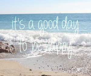 happy, beach, and day image