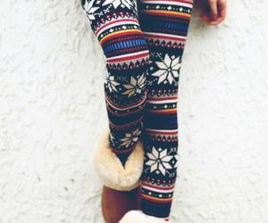 winter, leggings, and boots image