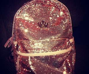 bag, glitter, and gold image
