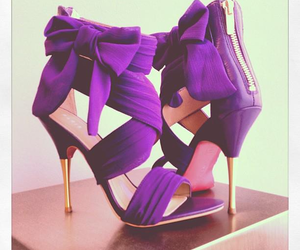 heels, purple, and shoes image