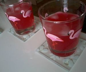 alcohol, flamingo, and drinks image