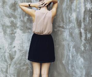 fashion, girl, and back image