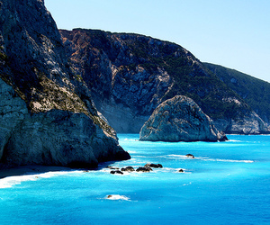 blue, Greece, and ocean image