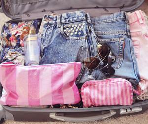 pink, summer, and bag image