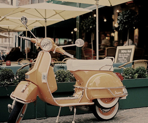 vintage, Vespa, and scooter image
