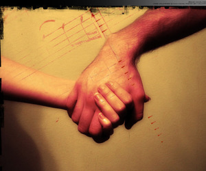 holding hands, pretty, and together image