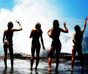 beach, fun, and sea image