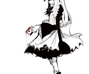 horror, red, and maid image