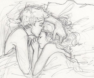 amor, bed, and cuddle image